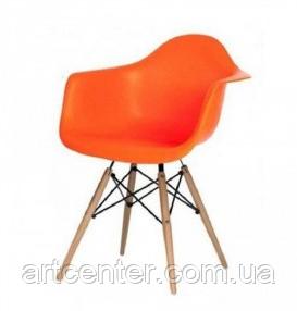 Офисное пластиковое кресло, кресло для ожидания, кресло для сада  (Тауэр Вуд оранжевый)