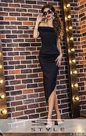 Женский молодежный костюм топ + юбка №62а черный