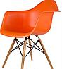 Офисное пластиковое кресло, кресло для ожидания, кресло для сада  (Тауэр Вуд оранжевый), фото 2