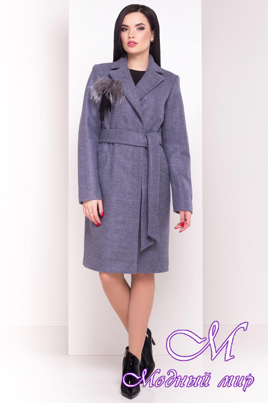 Весенне-осеннее женское пальто с поясом (р. S, M, L) арт. Монблан 4424 - 21197