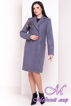 Весенне-осеннее женское пальто с поясом (р. S, M, L) арт. Монблан 4424 - 21197, фото 2
