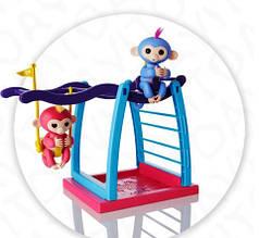 """Игровой набор """" Ручная интерактивная Обезьянка Finger Monkey с качелями"""" USB зарядка"""