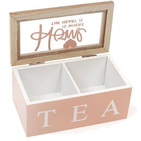 Коробка для хранения чая и сладостей на 2 секции 16 х 9 х 7 см