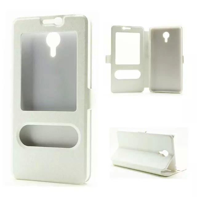 Чехол Meizu M2 Note книжка с двойным окном белый