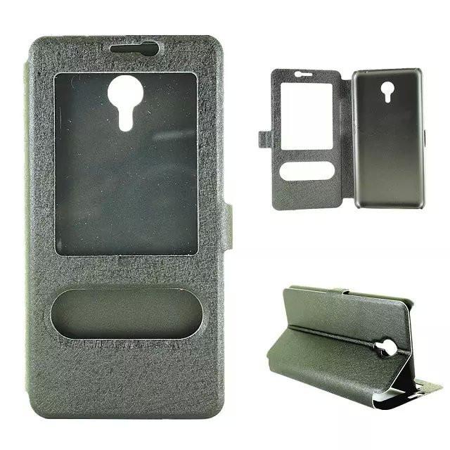 Чехол Meizu M2 Note книжка с двойным окном черный