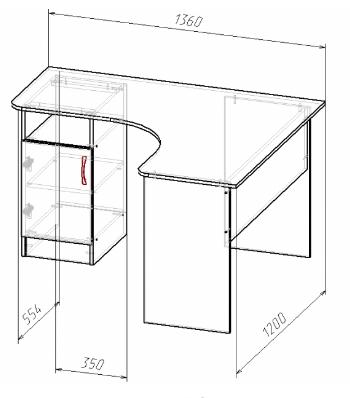 Стол угловой 160х130, фото 2