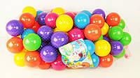 Шарики для сухого бассейна 70 мм мягкие 100 шт. в сетке M- toys