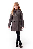 Стильное пальто для девочки размер 122,128,134,140