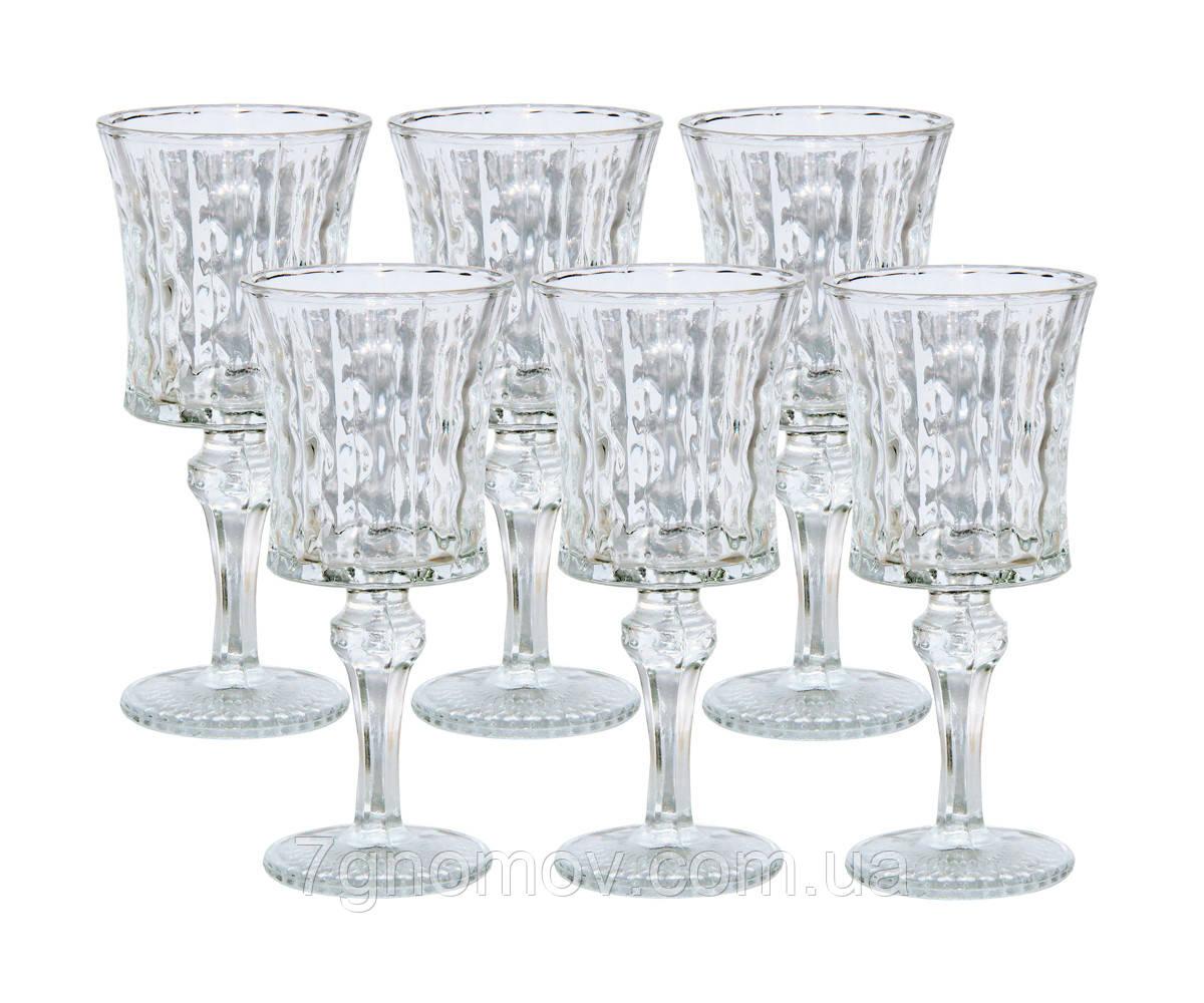 Набор 6 бокалов Камилла из прозрачного толстого стекла 150 мл