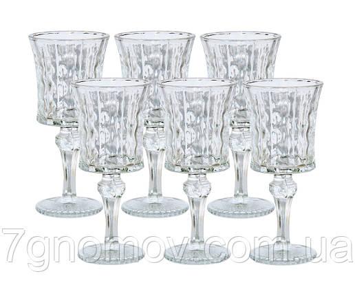 Набор 6 бокалов Камилла из прозрачного толстого стекла 150 мл, фото 2