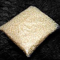 ОПТ Полубусины 6мм (упаковка 500 грамм). Цвет - крем
