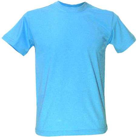 Мужская футболка под сублимацию L цвет голубой