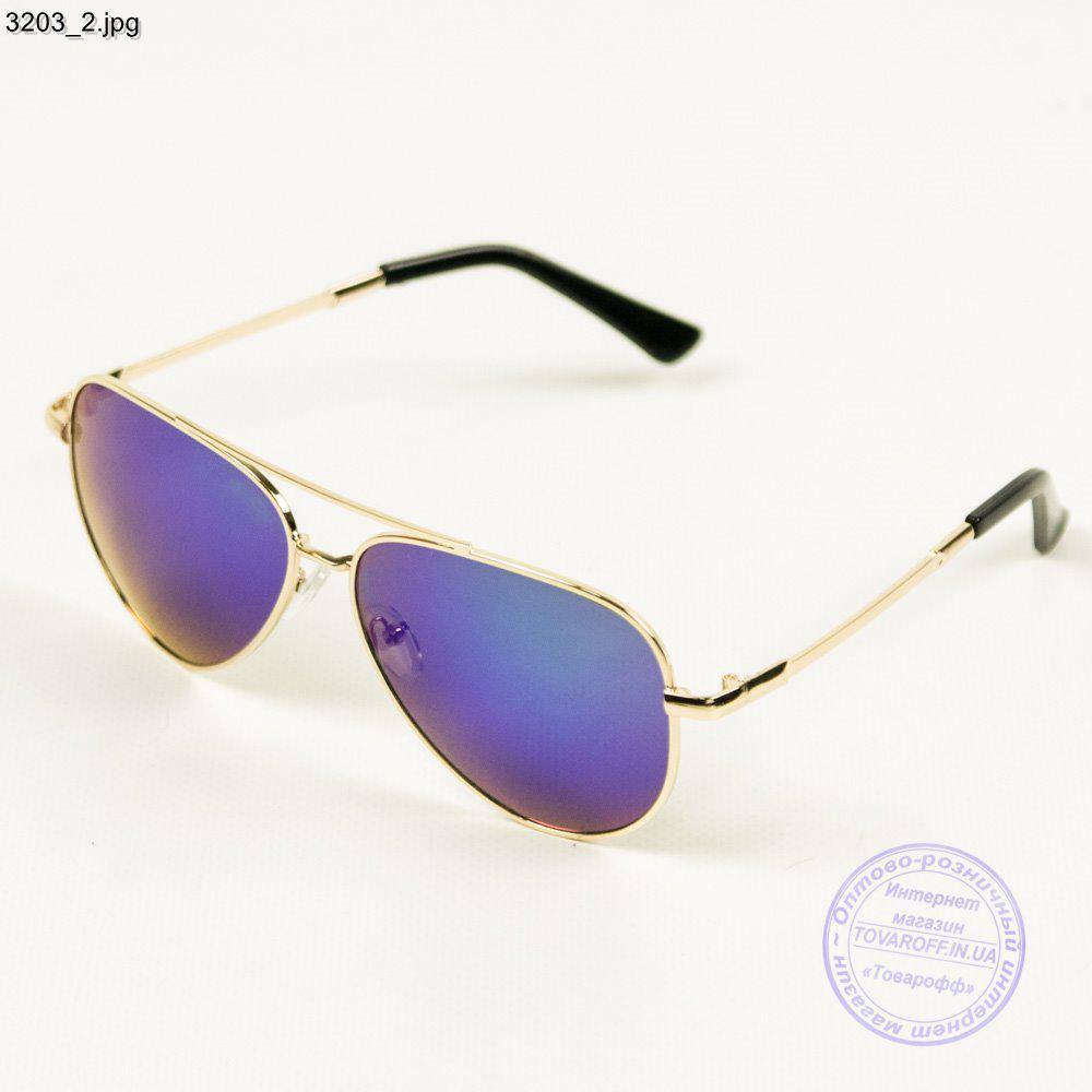 Дзеркальні кольорові окуляри авіатор - 3203