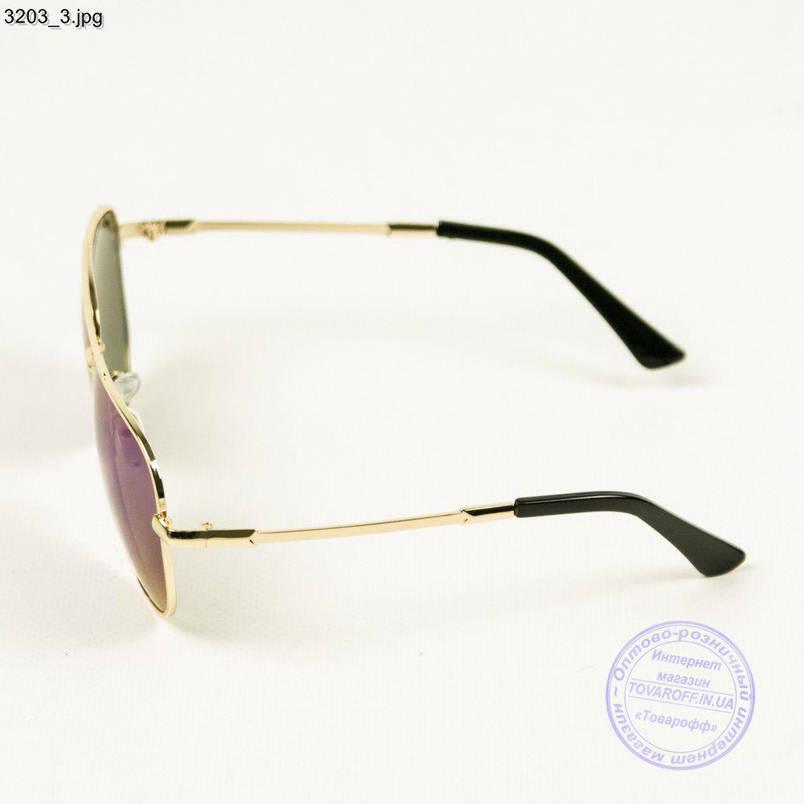 Дзеркальні кольорові окуляри авіатор - 3203, фото 2