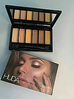 Палетка теней Huda Beauty (Худа Бьюти) Textured Shadows Palette Rose Gold Edition, фото 1