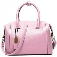 Кожаная розовая сумка  Traum арт. 7334-16