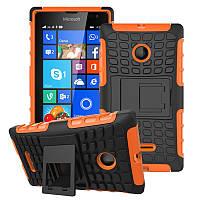 Чехол Microsoft Lumia 435 противоударный бампер оранжевый