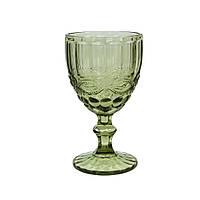 Бокал из цветного зеленого стекла Винтаж 300 мл