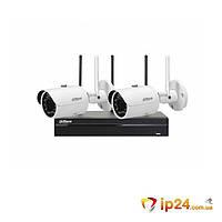 Комплект видеонаблюдения Wi-Fi Dahua KIT-IP43-2B-W
