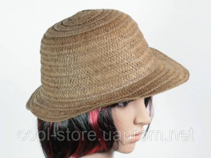Соломенная шляпа Бебе 29 см темно-коричневая