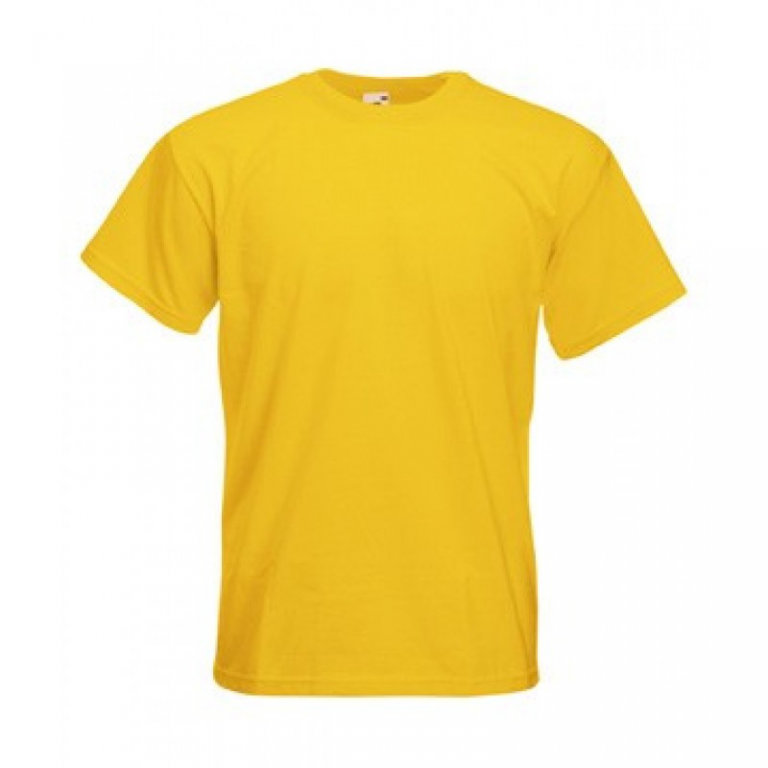 Мужская футболка под сублимацию ХS цвет желтый