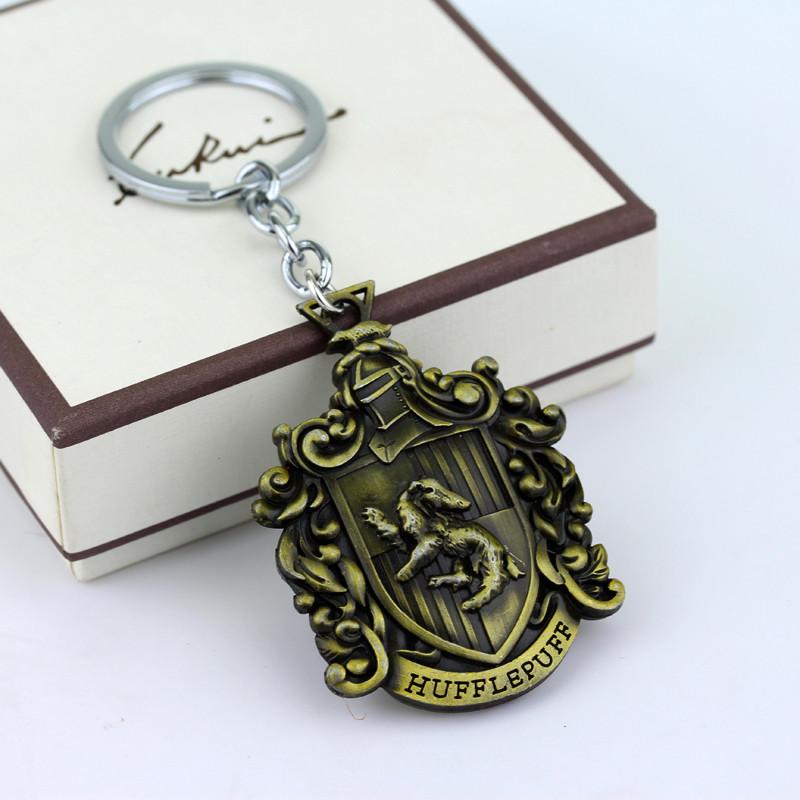 """Оригинальный брелок для ключей из металла """"Пуффендуй"""" из Гари Поттера!"""