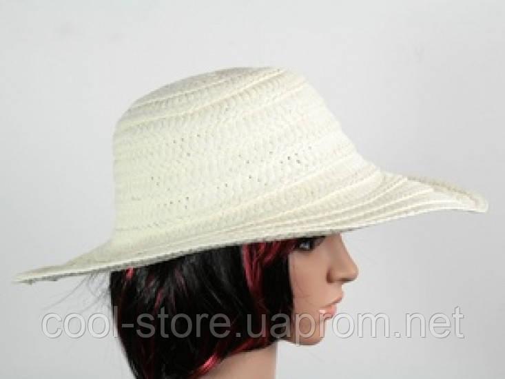 Соломенная шляпа Тисаж 42 см бежевая