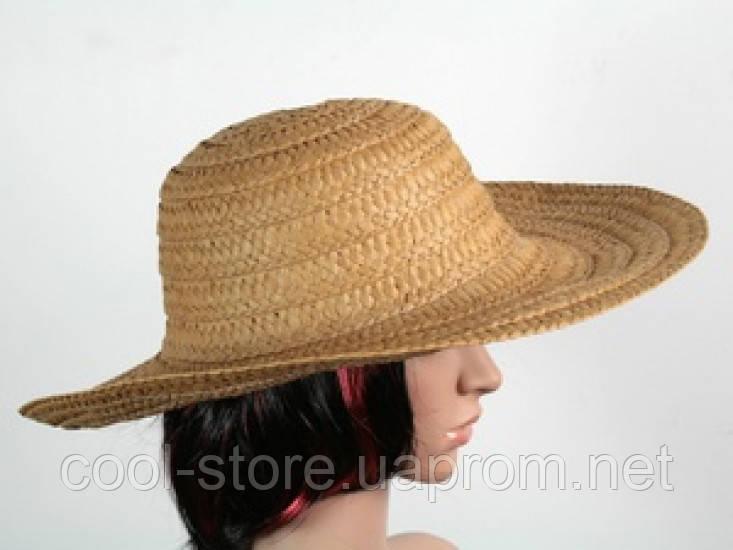 Соломенная шляпа Тисаж 42 см коричневый