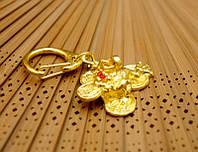"""Брелок в золотом цвете """"Символы Фэн Шуй"""" Жаба богатства"""