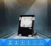 Светодиодный прожектор 10W, RGB+CCT, WI-FI, (AC), фото 1
