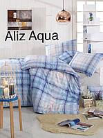 Постельное бельё ранфорс евро ALTINBASAK Aliz aqua