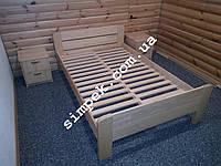 Кровать полутораспальная деревянная Ольха / Ясень