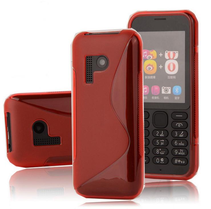 Чехол Nokia 215 силикон TPU S-LINE красный