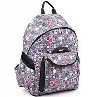 Вместительный рюкзак в разноцветный горошек  Dolly арт. 596
