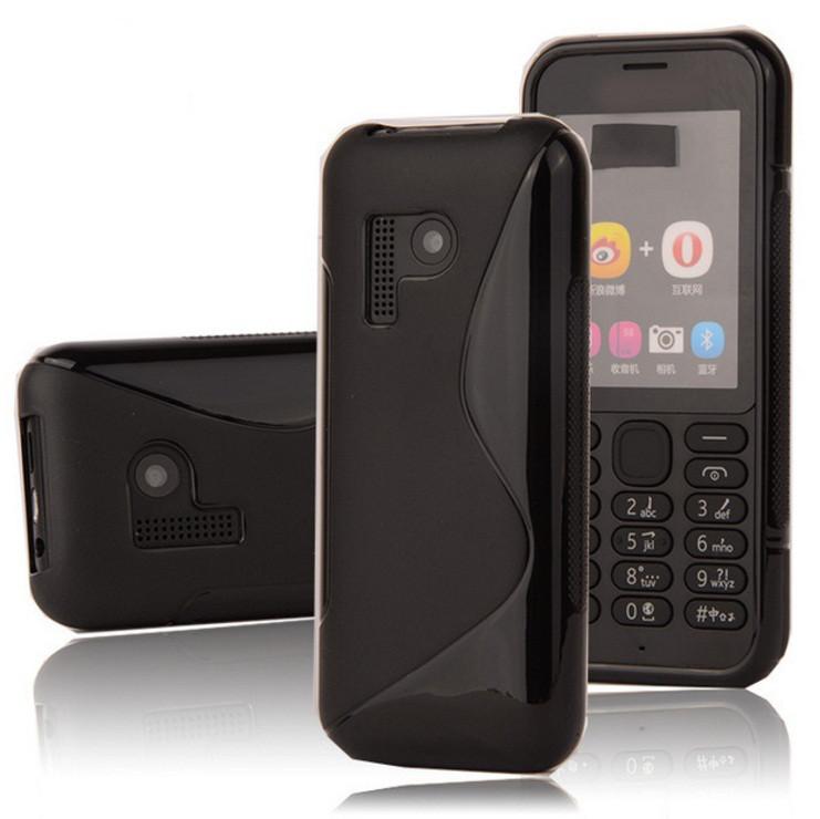 Чехол Nokia 215 силикон TPU S-LINE черный