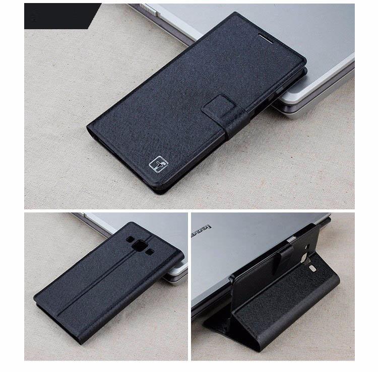 Чехол Samsung A300 / A3 2015 книжка Flower Ultrathin черный