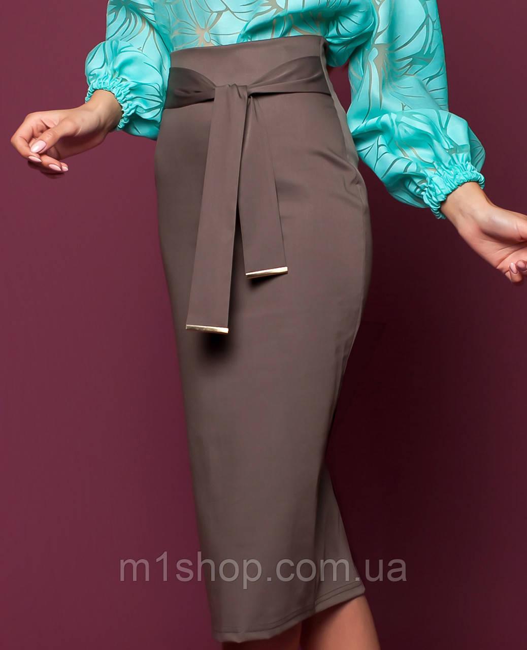 Женская узкая юбка-миди (Жаклин jd)