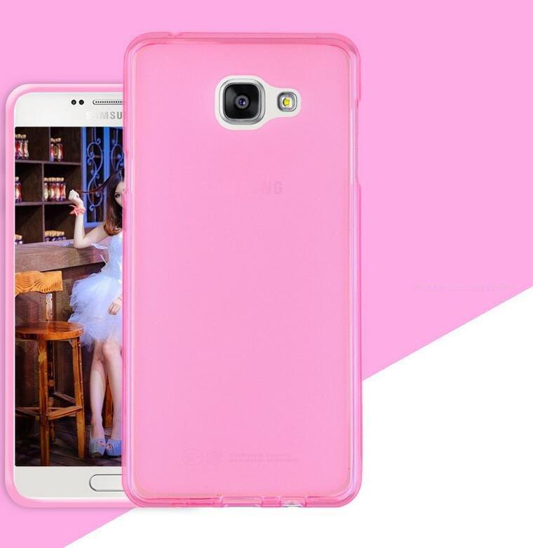 Чехол Samsung A310 / A3 2016 силикон TPU розовый