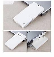 Чехол Samsung A700 / A7 2015 книжка Flower Ultrathin белый