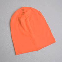 Детская шапка бини. Оранжевый. Размеры: 48-50, 50-52, 52-54, 54-56 см