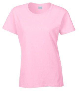Женская футболка под сублимацию L цвет розовый