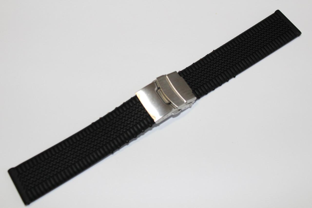 Каучуковый ремень для часов 22мм - каучуковый ремень на клипсе