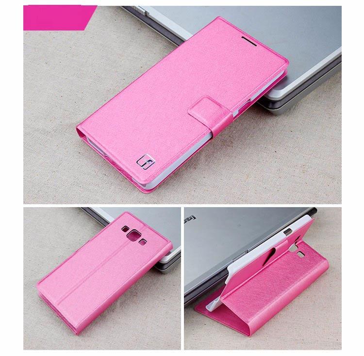 Чехол Samsung A700 / A7 2015 книжка Flower Ultrathin розовый