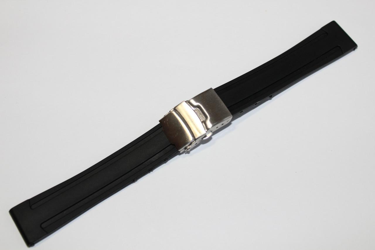 Каучуковый ремень для часов 18 мм - каучуковый ремень на клипсе