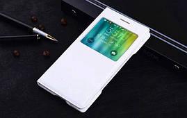 Чехол Samsung E500 / E5 книжка с окном S-View белый