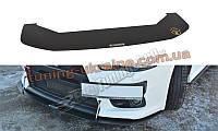 Диффузор на передний бампер для Mitsubishi Lancer Evo X 2007-2015 (вер.2)