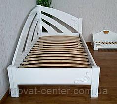 """Белая кровать """"Радуга"""" + накладной декор. Массив - ольха, береза, дуб., фото 3"""