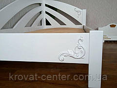 """Белая кровать """"Радуга"""" + накладной декор. Массив - ольха, береза, дуб., фото 2"""