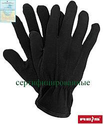 Перчатки для официанта трикотажные черные с напылением RMICRON B