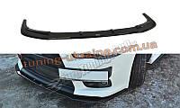 Диффузор на передний бампер для Mitsubishi Lancer Evo X 2007-2015 версия 1